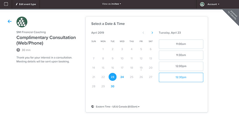 Calendly - scheduling assistant