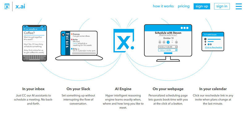 x.ai - scheduling assistant