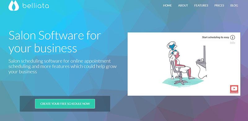 Belliata–A free salon scheduling software.