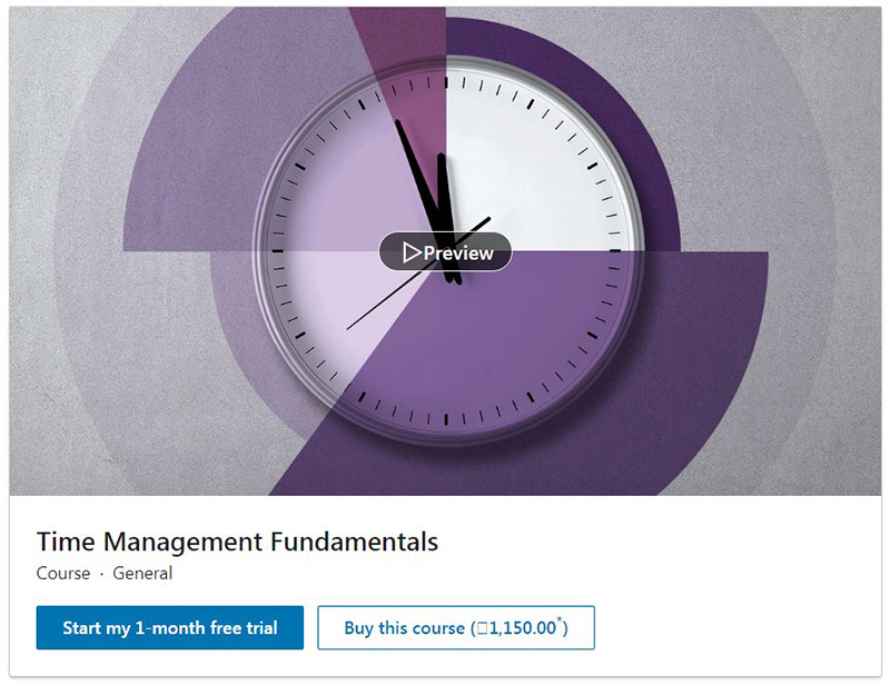 Time Management Fundamentals (LinkedIn Learning)