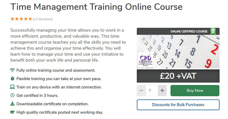 Time Management Training (High Speed Training)