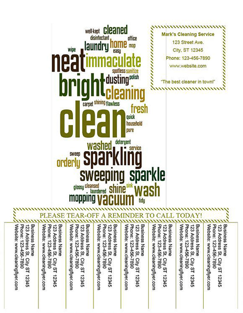 Tearaway Cleaning Service Flyer