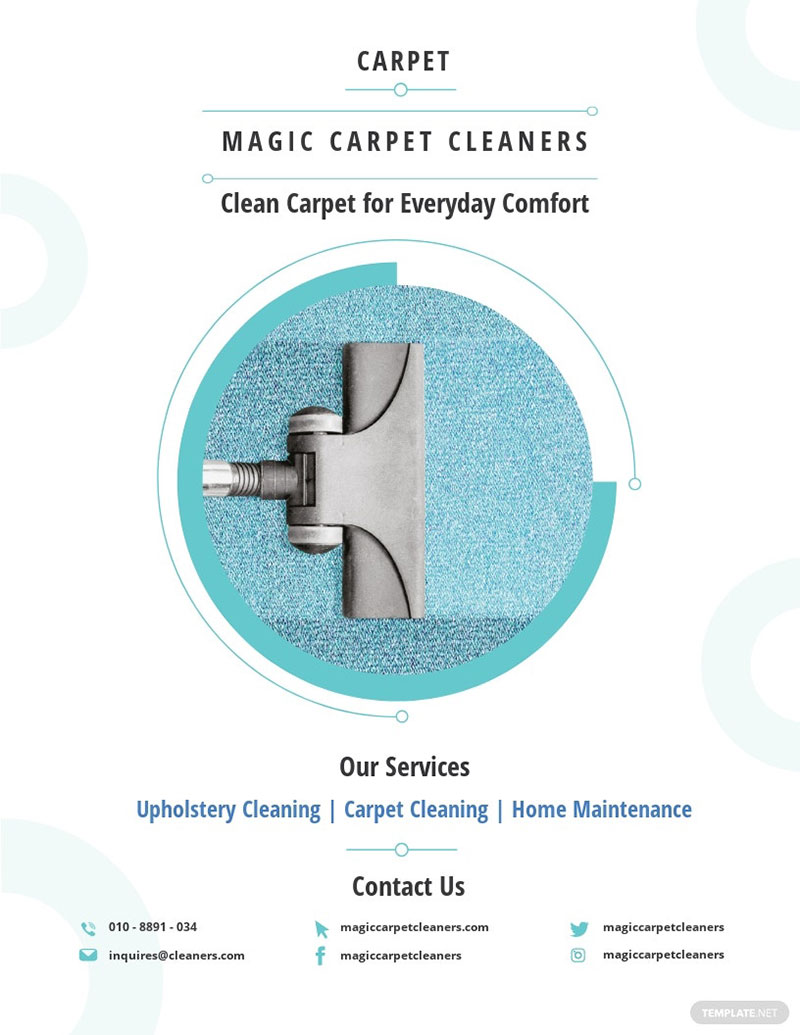 Carpet Cleaning Flyer Template