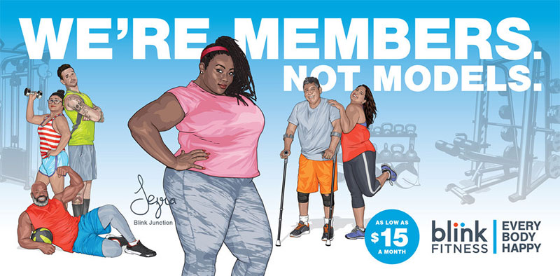 Learn Body Positivity from Blink Fitness Health and Fitness Advertisements