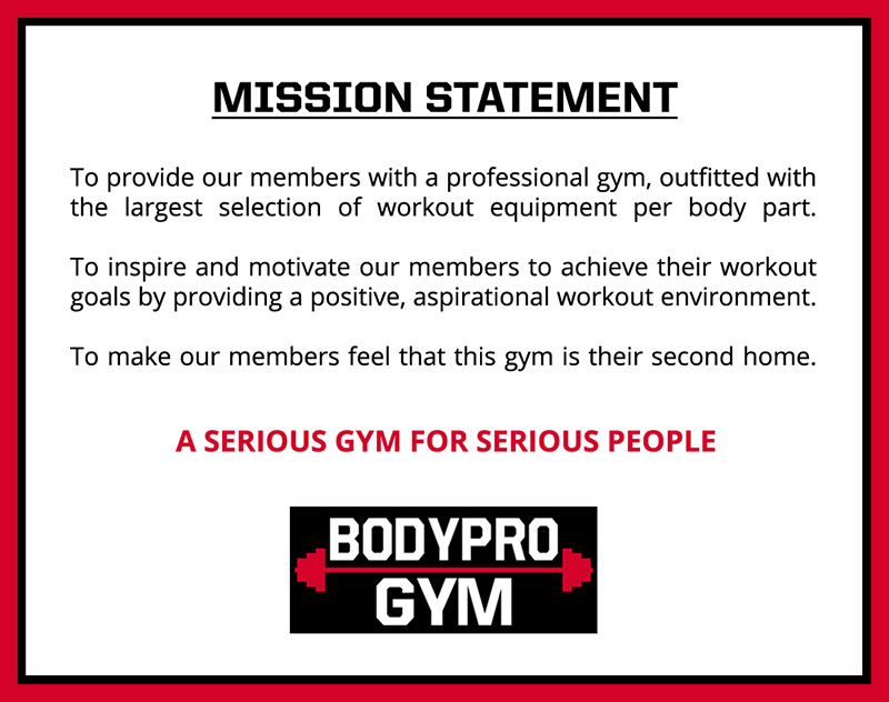 The Benefits of Having a Gym Mission Statement