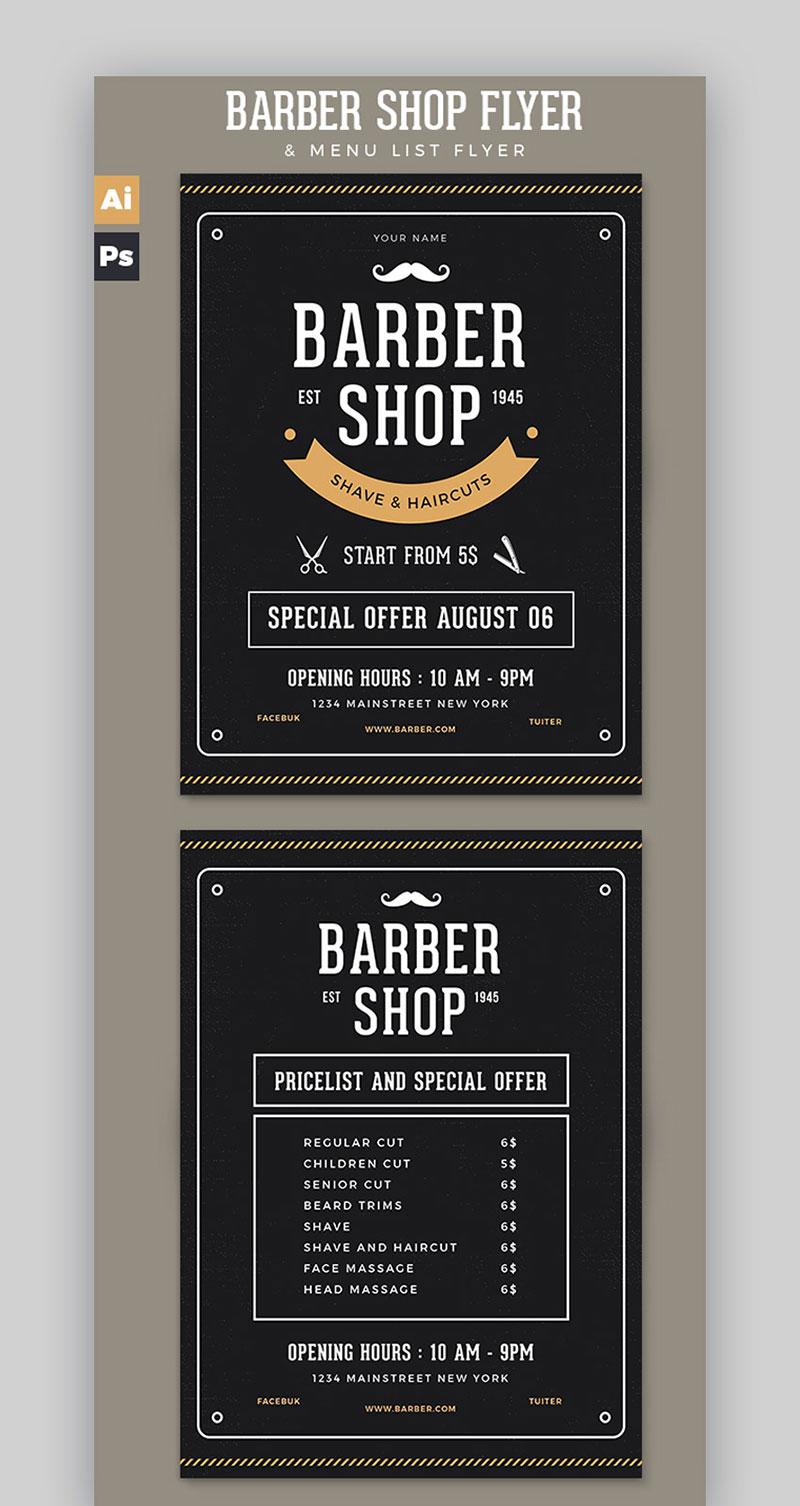 Barbershop Flyer Pricelist