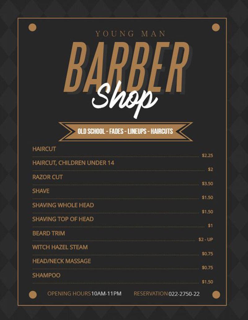 Young Man Barber Shop