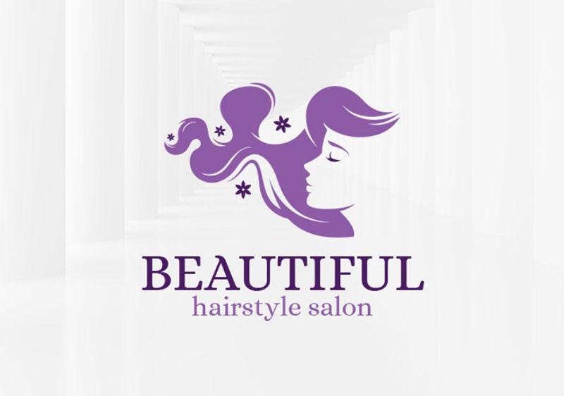 Beautiful Hair Salon Logo Template