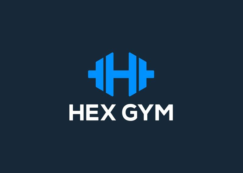 Hex Gym - Dumbbell Logo