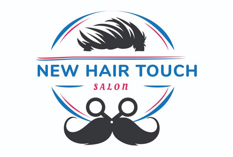 new hair touch salon logo