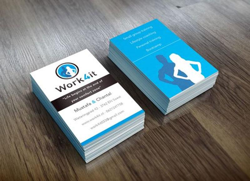 Electric Blue Business Card Design