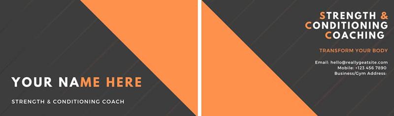 Black-Orange Business Card Front and Back