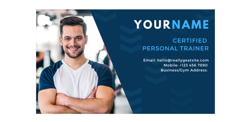 Photo Of Business Owner On Card