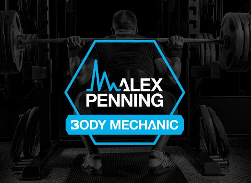 Logo Design for Alex Penning - alternative lockup