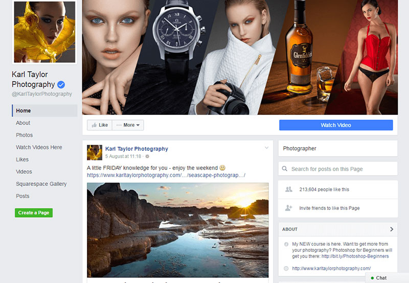 What Is a Photography Facebook Business Page?