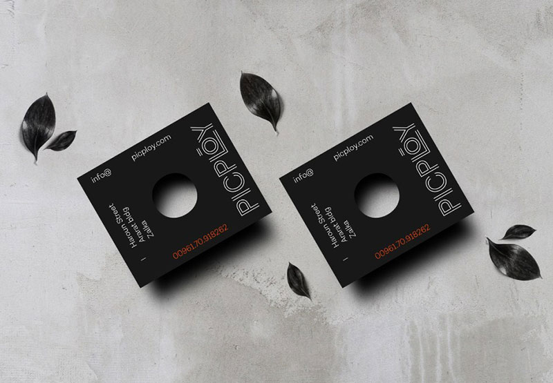 Business card for a photography agency