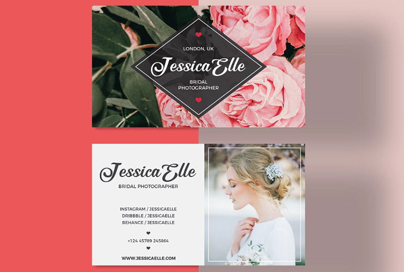 Free Bridal Photography Business Card