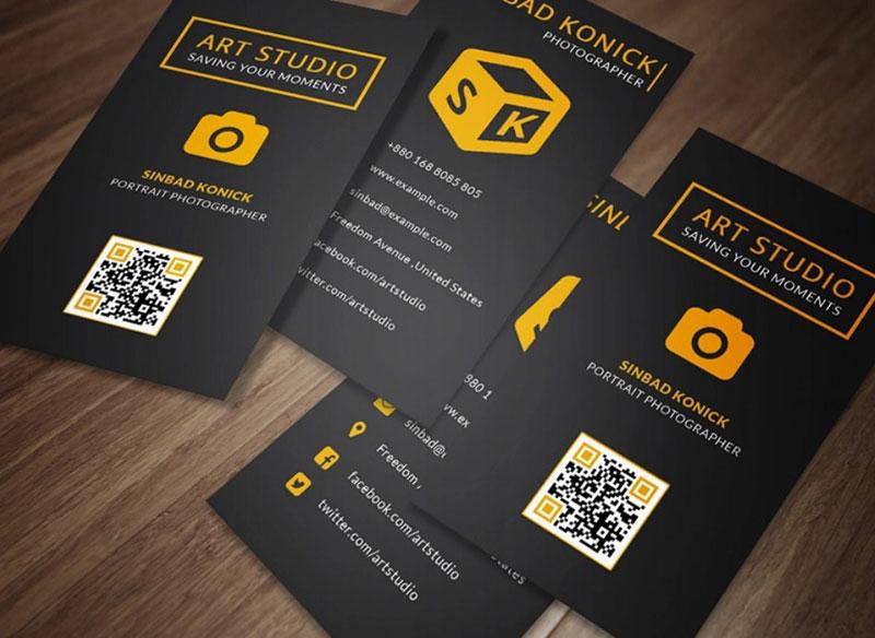 Art Studio Creative Photographers Business Card